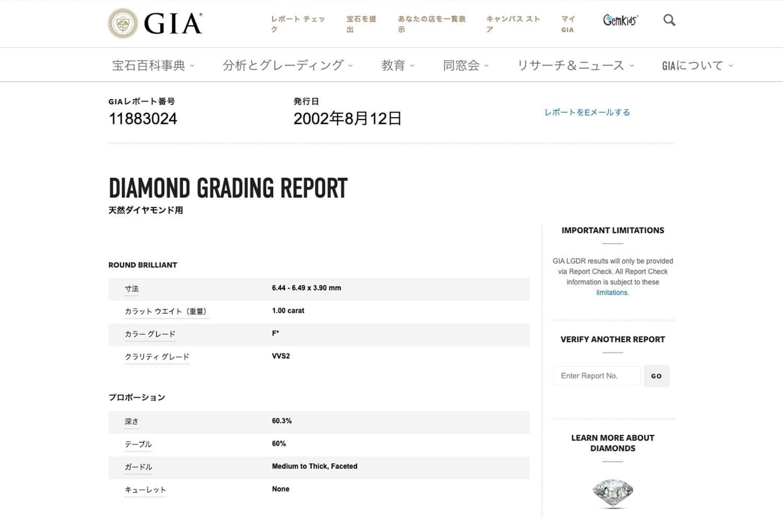 GIA 公式Webサイトキャプチャ