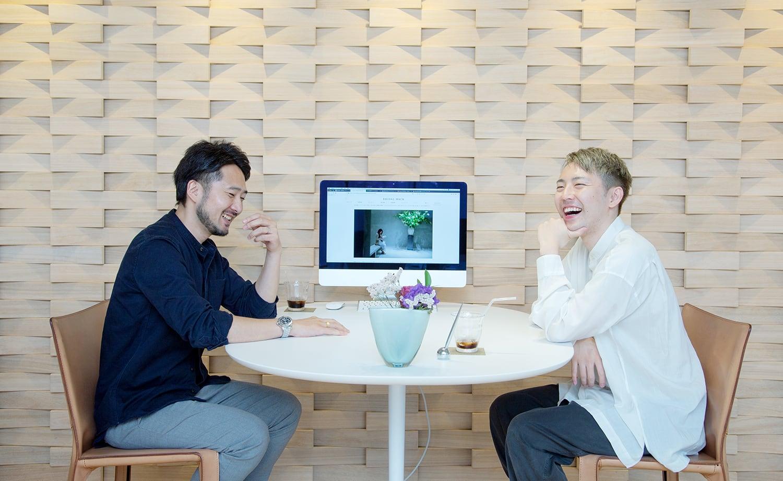 CRAZY WEDDINGの藤沢さんとBRILLIANCE+の若林さん