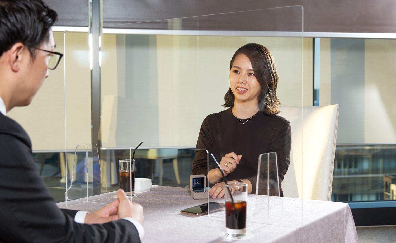 VMG HOTELS & UNIQUE VENUESの高橋さんとBRILLIANCE+の渡邉