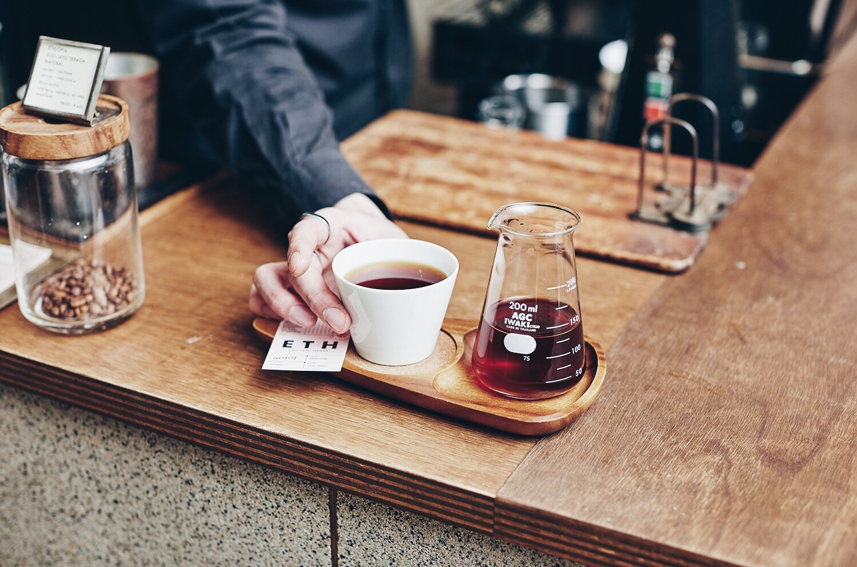 グリッチコーヒーのホットコーヒー