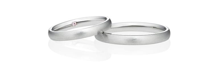 ヘアラインの結婚指輪