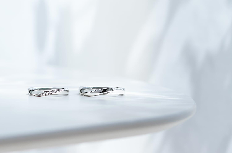 ホワイトゴールド指輪 イメージ
