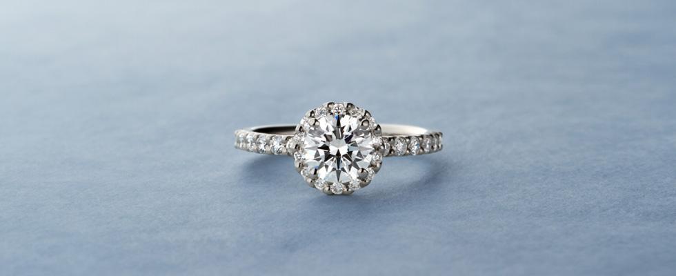 ヘイロー婚約指輪画像