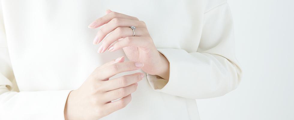 普段使いをしている婚約指輪画像