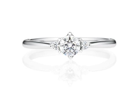 婚約指輪サイドストーンリング01200