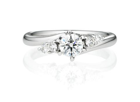 婚約指輪ウェーブライン00012