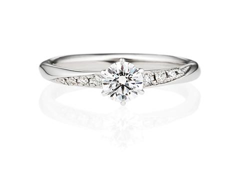 婚約指輪ウェーブライン00857