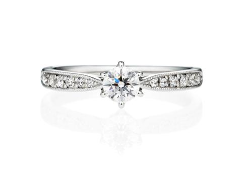 婚約指輪エタニティーリングタイプミルグレイン00776