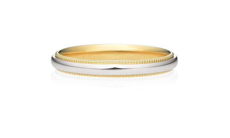結婚指輪 コンビネーション ミルグレイン