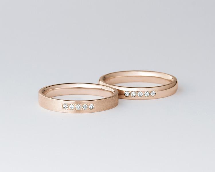 ピンクゴールドの結婚指輪sp