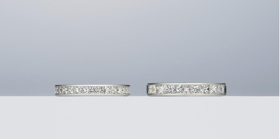 プリンセスカットダイヤモンドリングアップ写真2