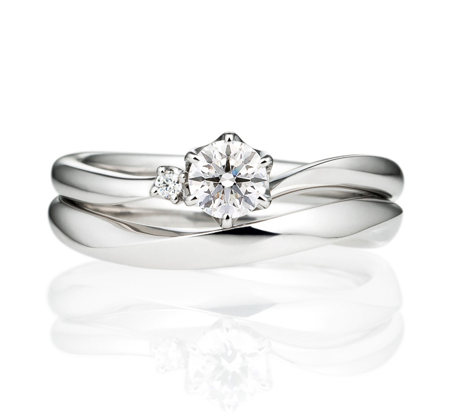 婚約指輪 アルシェ おすすめの重ねづけ 白抜き商品画像
