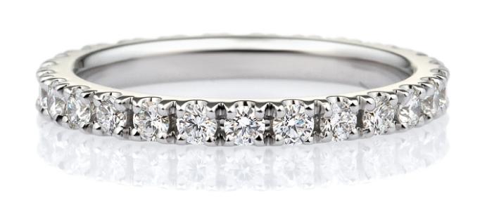 ダイヤモンド スクエア フルエタニティリング 2.3mm