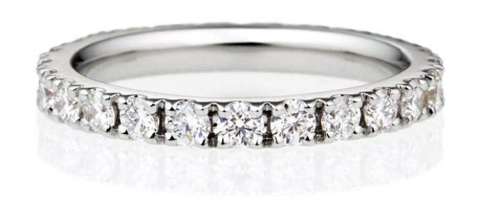 ダイヤモンド スクエア フルエタニティリング 2.5mm