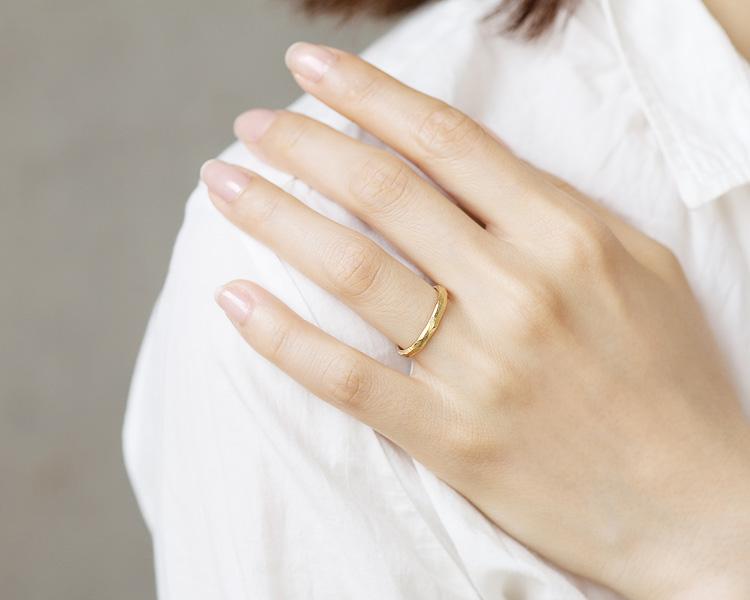 イエローゴールドの結婚指輪sp