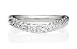 ウェーブVの結婚指輪
