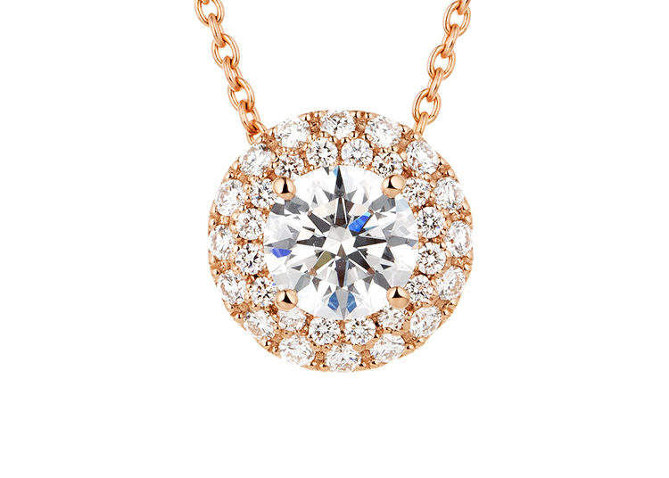 ダイヤモンド 6ポイントセッティング 40cm スルーペンダント