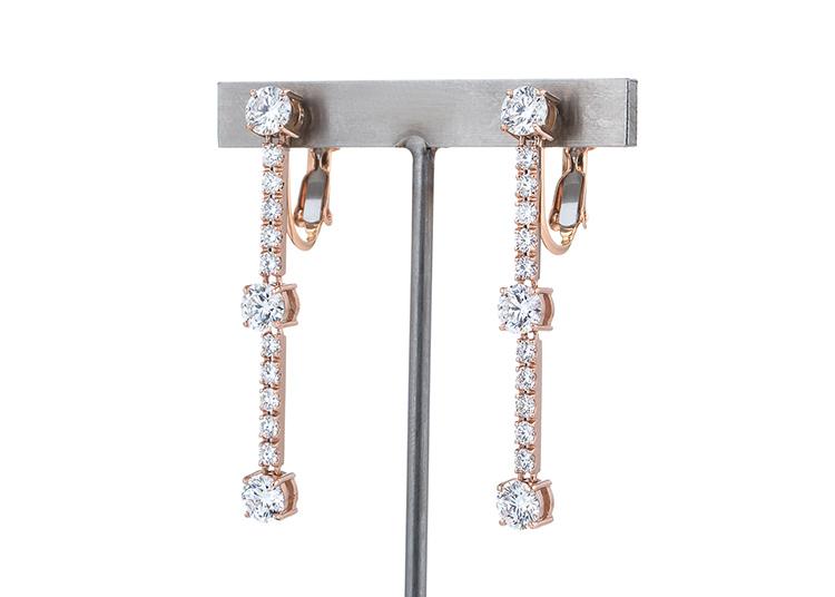 フルオーダーメイド:トリロジータイプ ダイヤモンド イヤリング