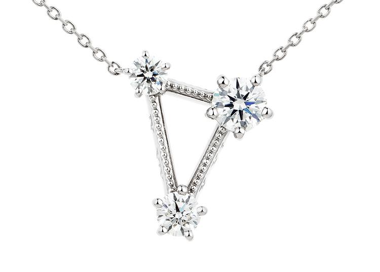 フルオーダーメイド:夏の大三角形 ダイヤモンド ペンダント