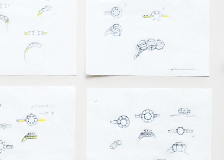 リングのデザイン画