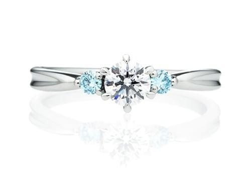 フェアリー ダイヤモンド サイドストーン リング