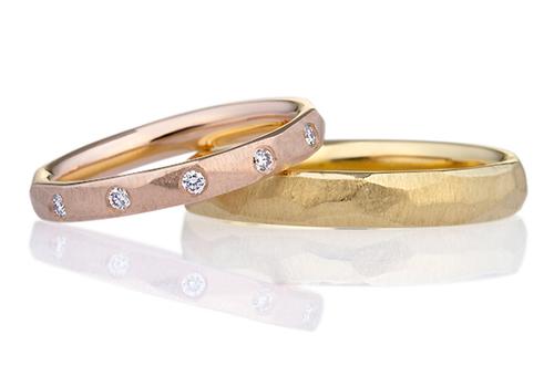 スクエア ダイヤモンド ハーフエタニティ リング ミルグレイン 2.5mm