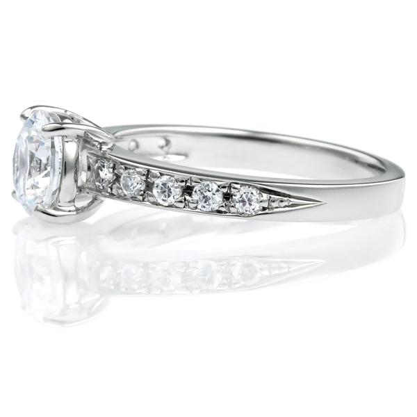 PT950 ホライズン ダイヤモンド エタニティタイプ リング 1.0ct