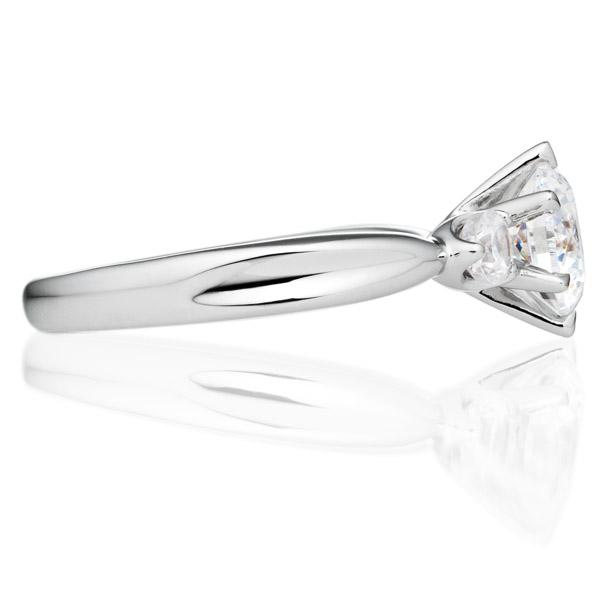 PT900 フェアリー ダイヤモンド サイドストーン リング 1.0ct