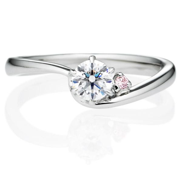 PT900 ジャンティエット ダイヤモンド ピンクダイヤモンド サイドストーン リング 0.3ct
