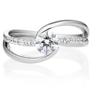 PT900 ウェーブライン エタニティータイプ ダイヤモンドリング for 0.5ct