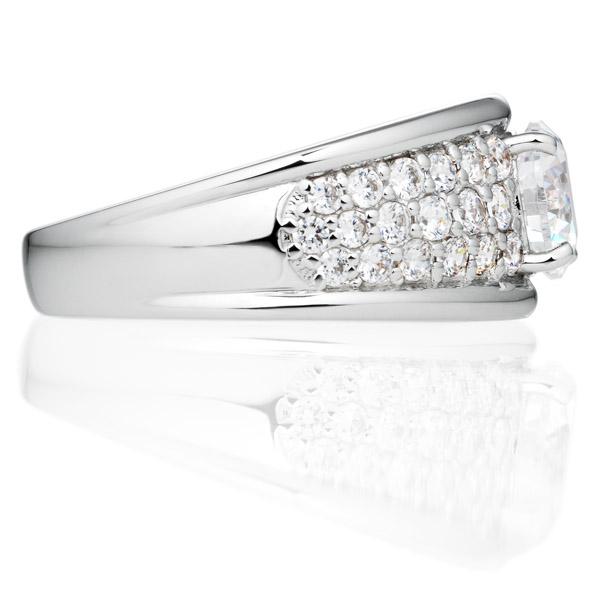 PT900 グロリアス ダイヤモンド パヴェ リング 1.0ct