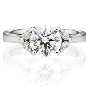 PT900 ジュノー ダイヤモンド サイドストーン リング 1.5ct