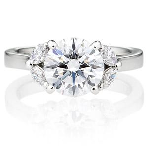 PT900 ジュノー ダイヤモンド サイドストーン リング 2.0ct
