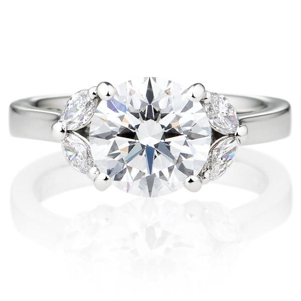 K18WG ジュノー ダイヤモンド サイドストーン リング 2.0ct