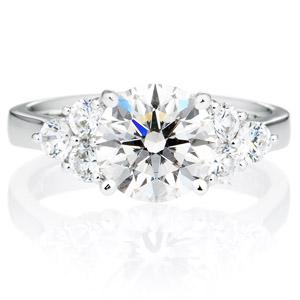 PT900 アルテミス ダイヤモンド サイドストーン リング 2.0ct