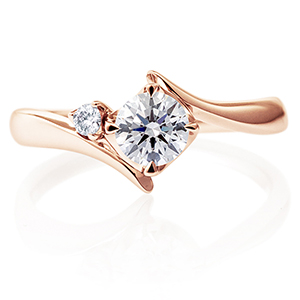 K18PG アルタイル ダイヤモンド サイドストーン リング 0.5ct
