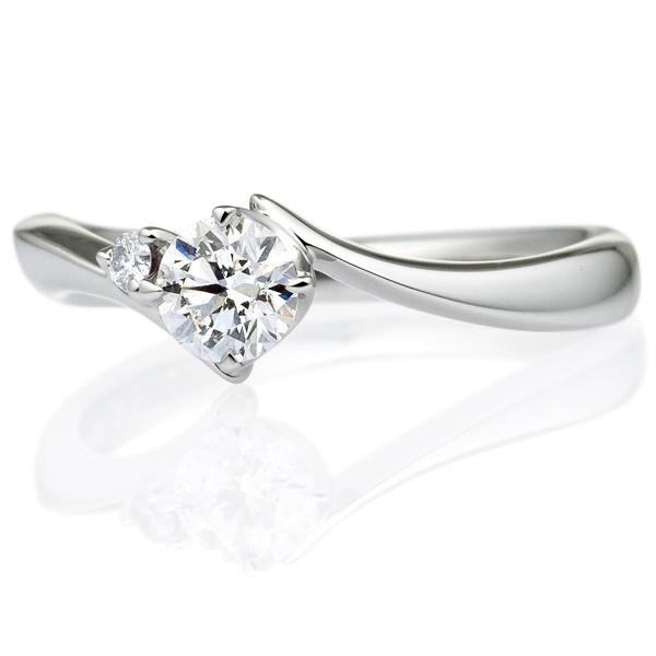 PT900 アルタイル ダイヤモンド サイドストーン リング 0.3ct