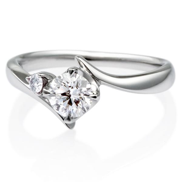 PT900 アルタイル ダイヤモンド サイドストーン リング 0.5ct