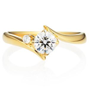 K18YG アルタイル ダイヤモンド サイドストーン リング 0.5ct