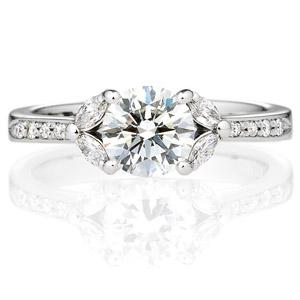 PT900 ジュノー ダイヤモンド サイドストーン エタニティタイプ リング 1.0ct