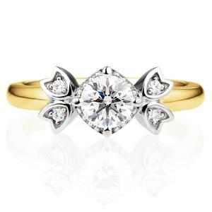 PT950/K18YG リュミナ ダイヤモンド コンビネーション リング 0.5ct