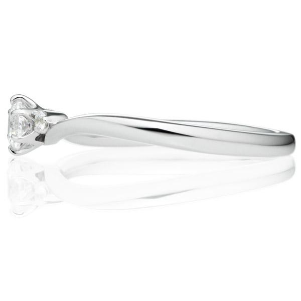 PT950 コリドール デュオ ダイヤモンド サイドストーン リング 0.2ct