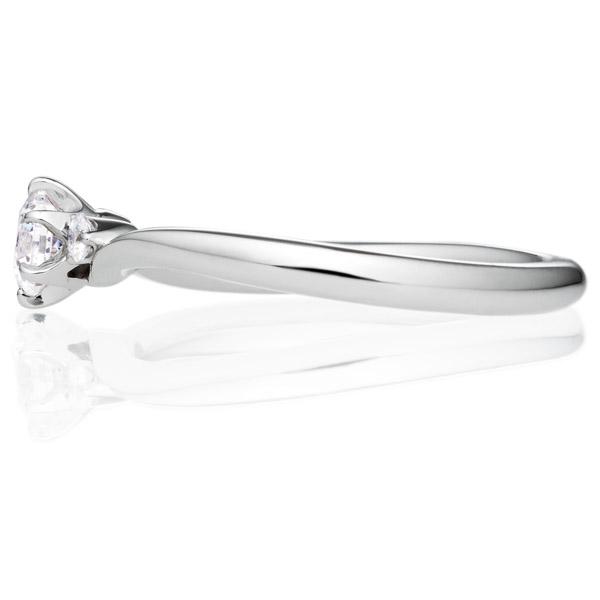 PT900 コリドール デュオ ダイヤモンド サイドストーン リング 0.3ct