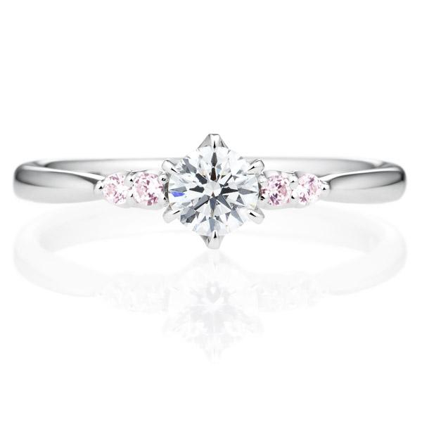 ピンクダイヤモンドタイプの婚約指輪