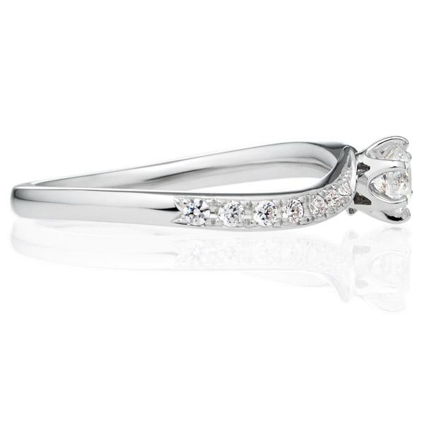 PT950 アルシェ クレール ダイヤモンド リング エングレーブ 0.2ct