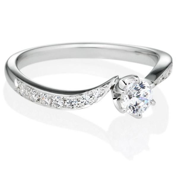 PT900 アルシェ クレール ダイヤモンド リング エングレーブ 0.3ct
