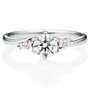 PT900 ボレロ ダイヤモンド ピンクダイヤモンド サイドストーン リング 0.5ct