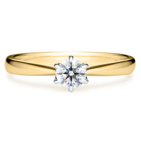 コンビネーションの婚約指輪
