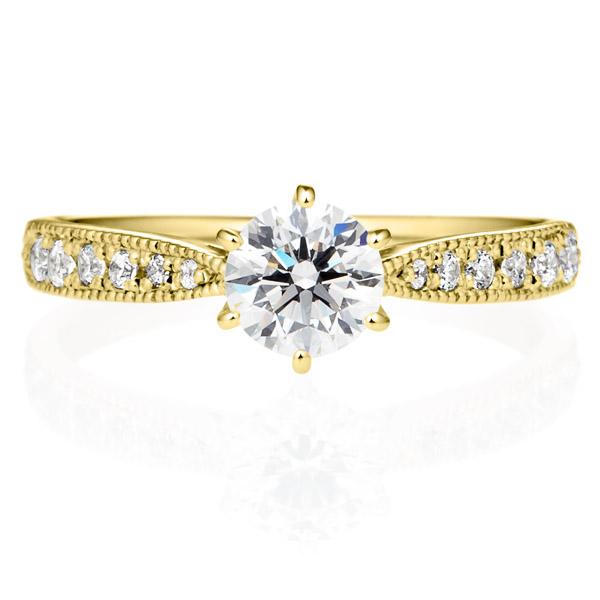 K18YG ヴィラ ダイヤモンド エタニティタイプ リング ミルグレイン 0.5ct