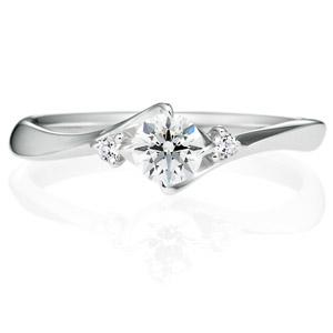 PT900 クチュリエ デュオ  ダイヤモンド サイドストーン リング 0.3ct